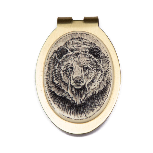 """California Brown Bear"" Money Clip"