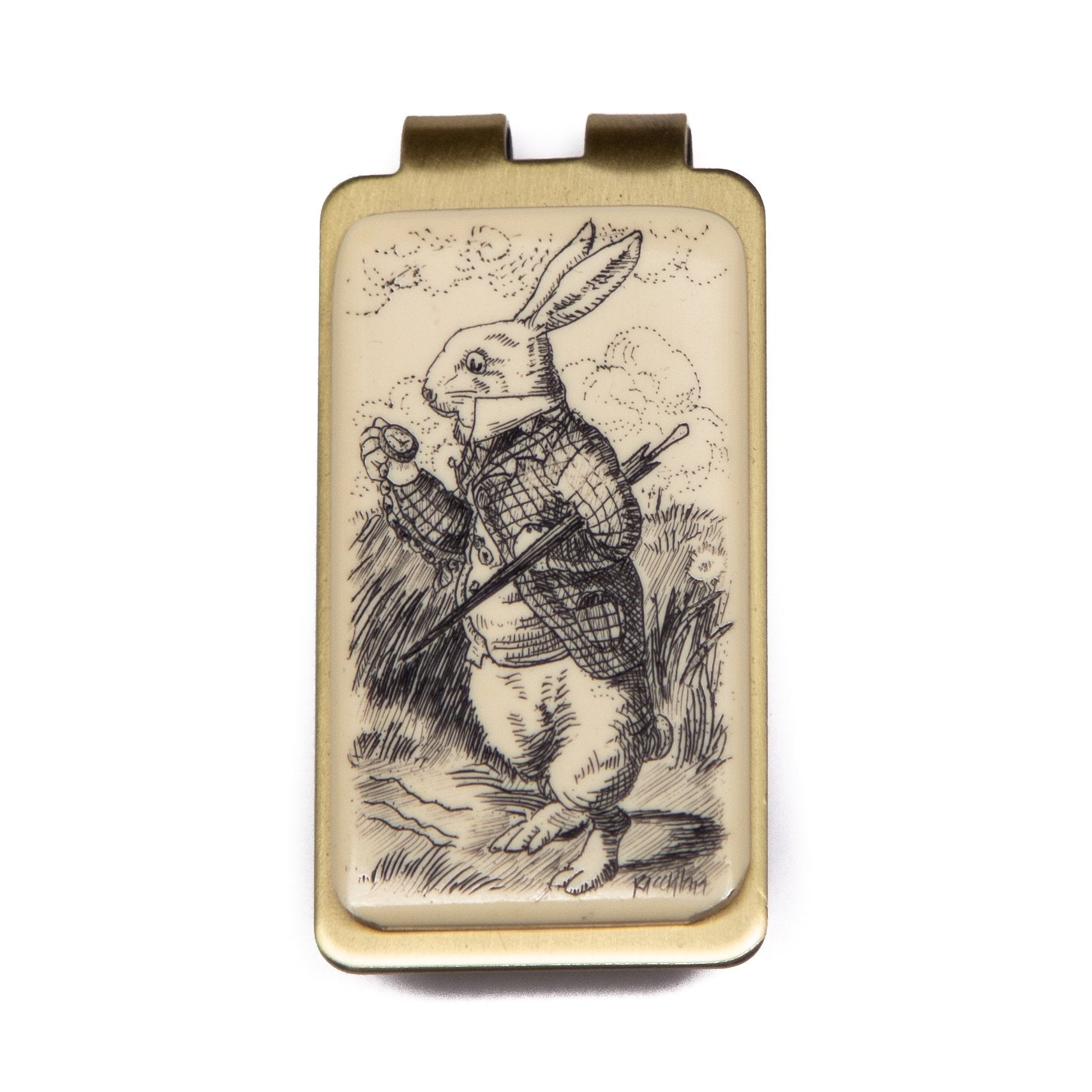 """White Rabbit"" Money Clip"