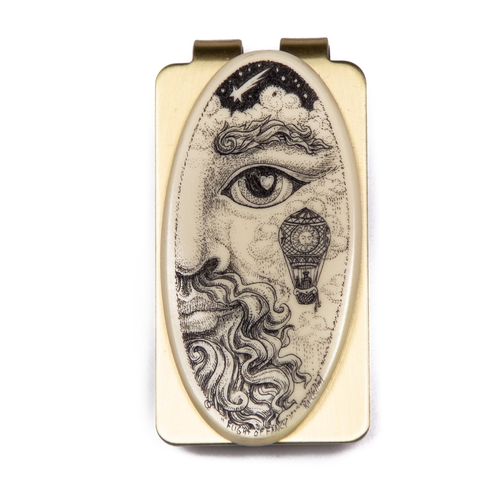 """Flight of Fancy"" Money Clip"