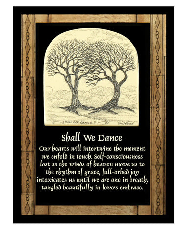 """Shall We Dance"" notecards"