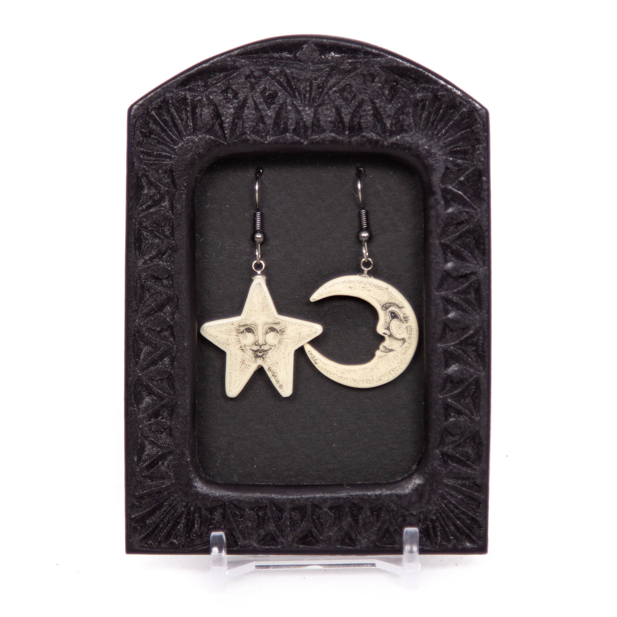"""Moon and Star"" Earrings"