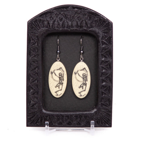 """Dry Bones Can Dance!"" Earrings"