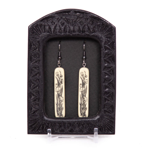"""Art Nouveau Floral"" Earrings"