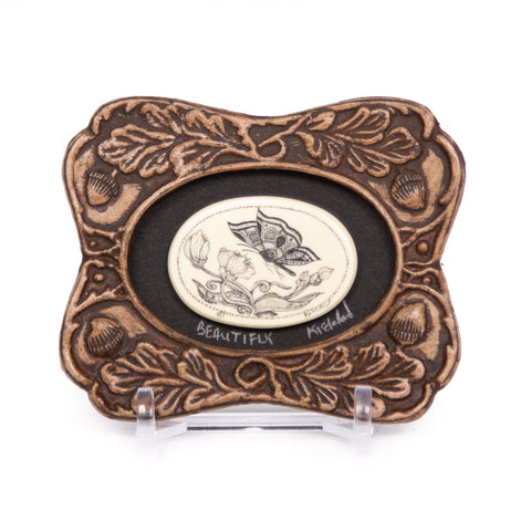 """Beautifly"" Mini Chip Carved Frame"