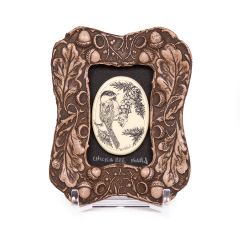 """Chickadee"" Mini Chip Carved Frame"