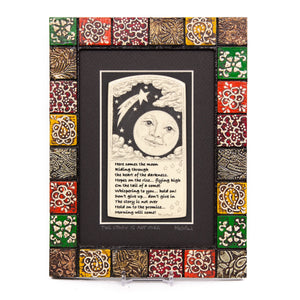"""The Story is Not Over"" Painted Mosaic Wood Frame"