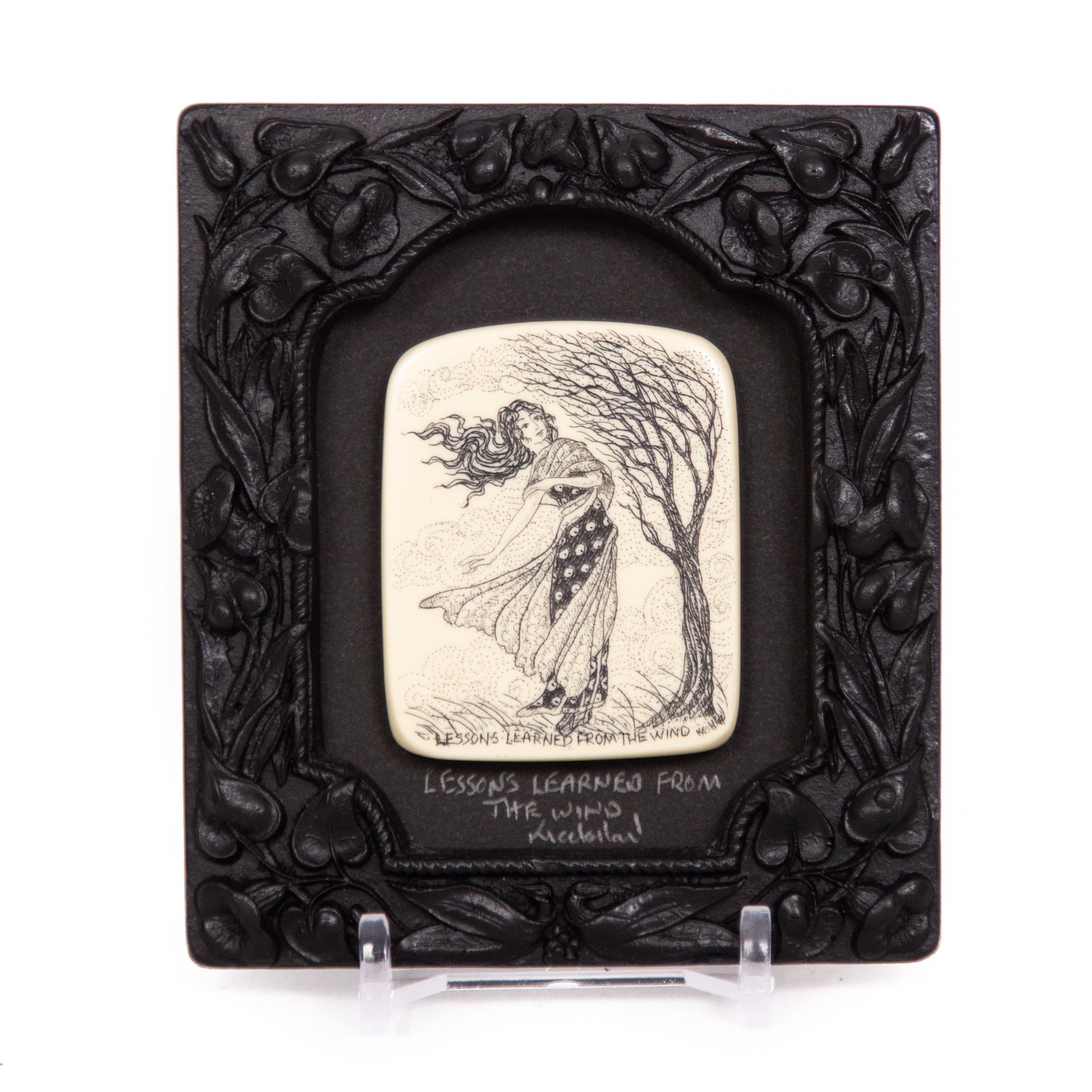 """Lessons Learned from the Wind"" Small Chip Carved Frame"