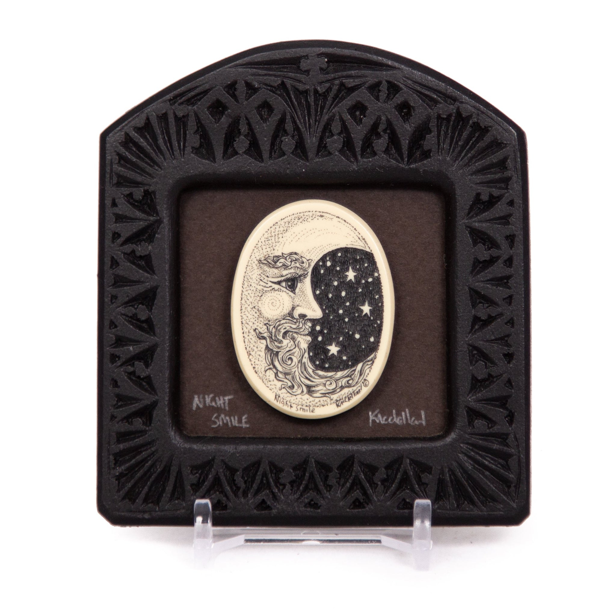 """Night Smile"" Small Chip Carved Frame"