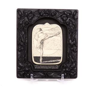 """Life Burned Within Me it was Released in Dance"" Small Chip Carved Frame"