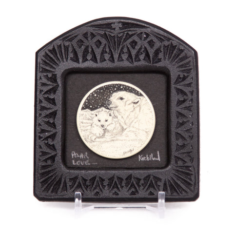 """Polar Love"" Small Chip Carved Frame"