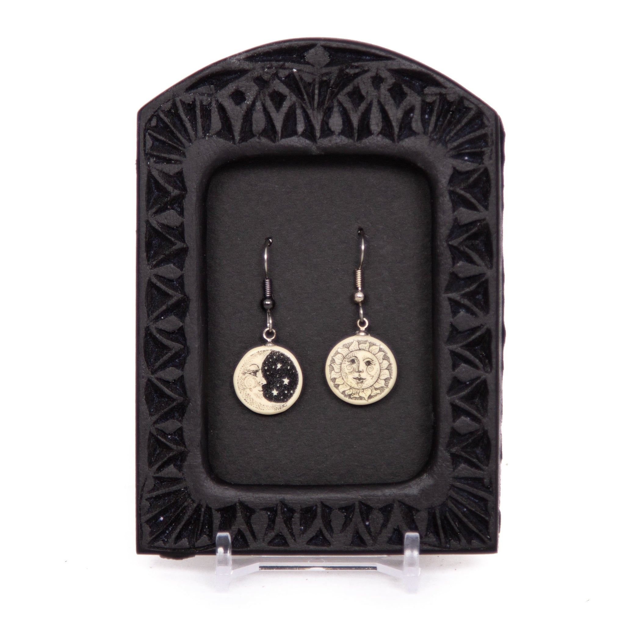 """Sun and Moon"" Earrings"