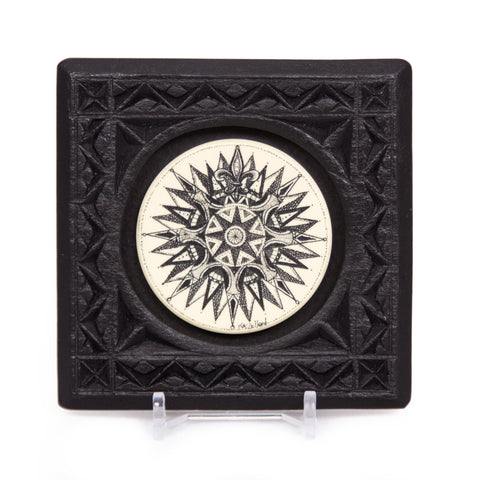 """Compass Rose"" Small Chip Carved Frame"