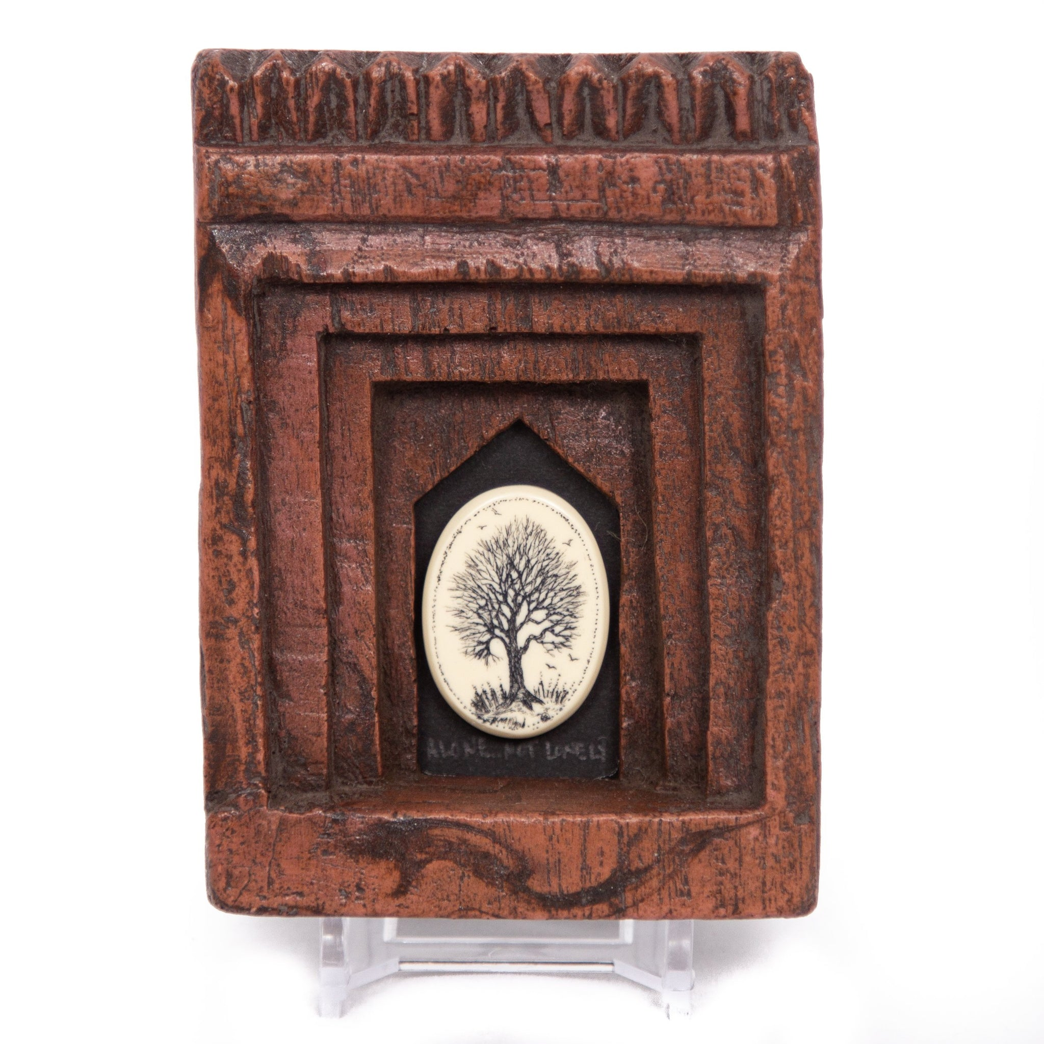 """Alone Not Lonely"" Small Chip Carved Frame"