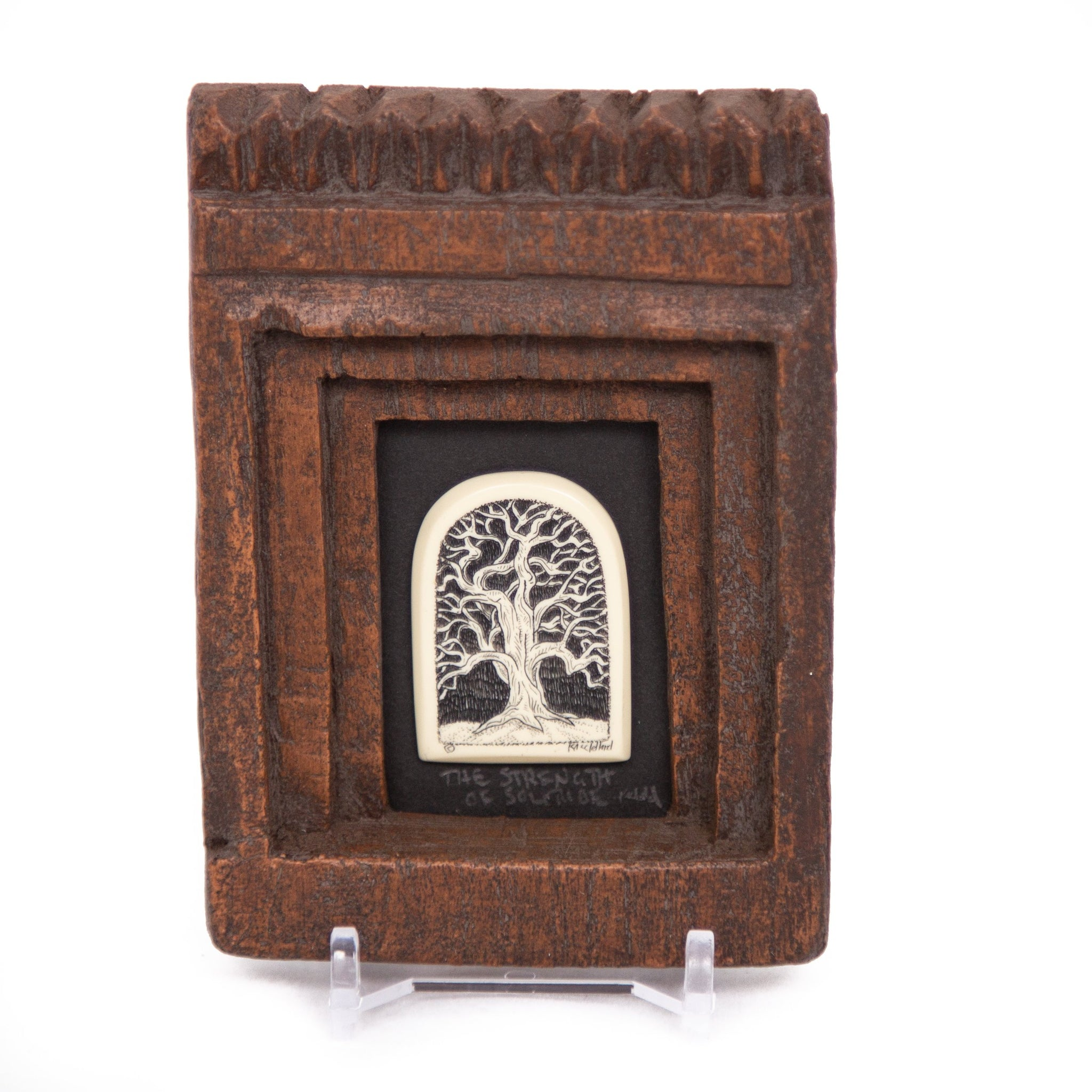 """The Strength of Solitude"" Small Chip Carved Frame"