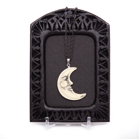 """Moon Croon"" Necklace with Chain"