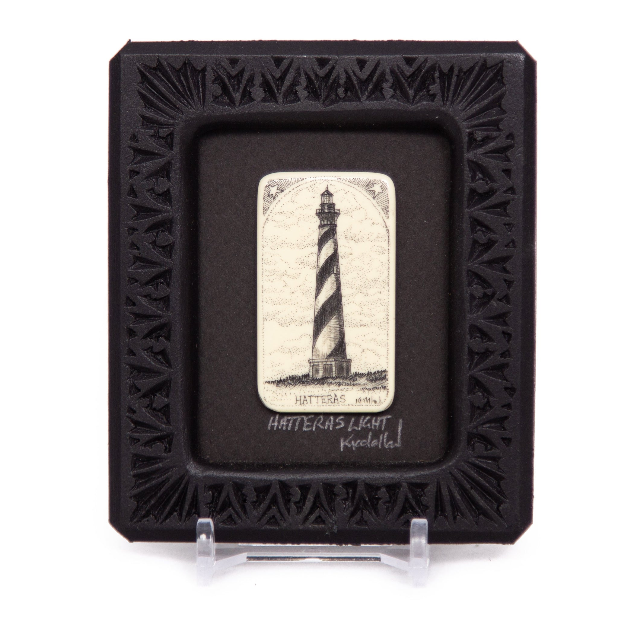 """Hatteras Light"" Small Chip Carved Frame"