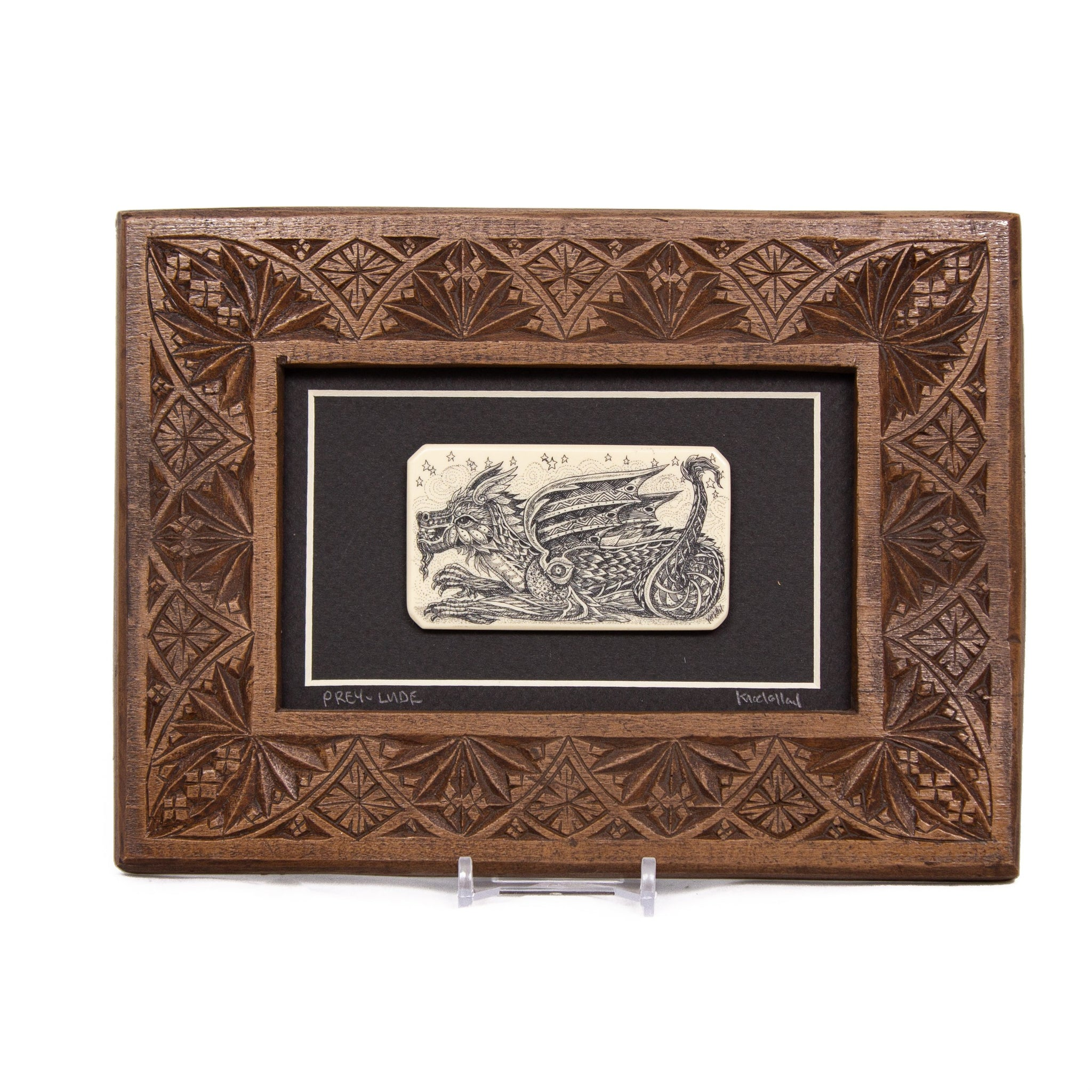 """Prey-Lude"" Large Chip Carved Frame"