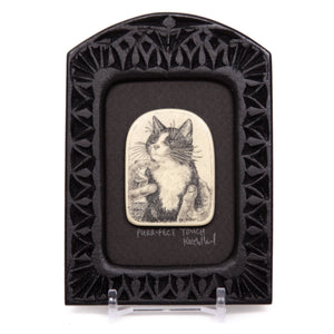 """Purr-fect Touch"" Small Chip Carved Frame"