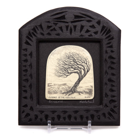 """Evidence of the Invisible"" Small Chip Carved Frame"