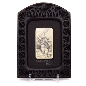 """White Rabbit"" Small Chip Carved Frame"