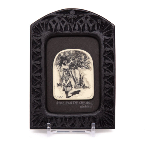 """Alice and the Cheshire"" Small Chip Carved Frame"