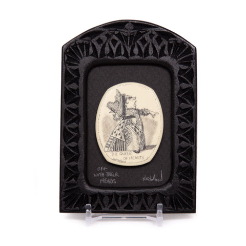 """Off With Their Heads"" Small Chip Carved Frame"