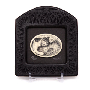 """Nap Time"" Small Chip Carved Frame"