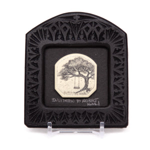 """Invitation to Reflect"" Small Chip Carved Frame"
