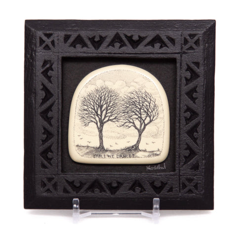 """Shall we Dance?"" Small Chip Carved Frame"