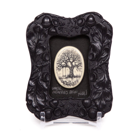 """Where Memories Begin"" Mini Chip Carved Frame"