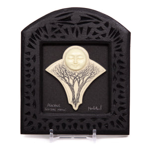 """Reaching for the Moon"" Small Chip Carved Frame"