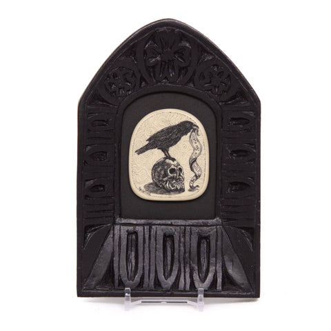 """Death has no Hold... for Love is Eternal"" Large Chip Carved Frame"