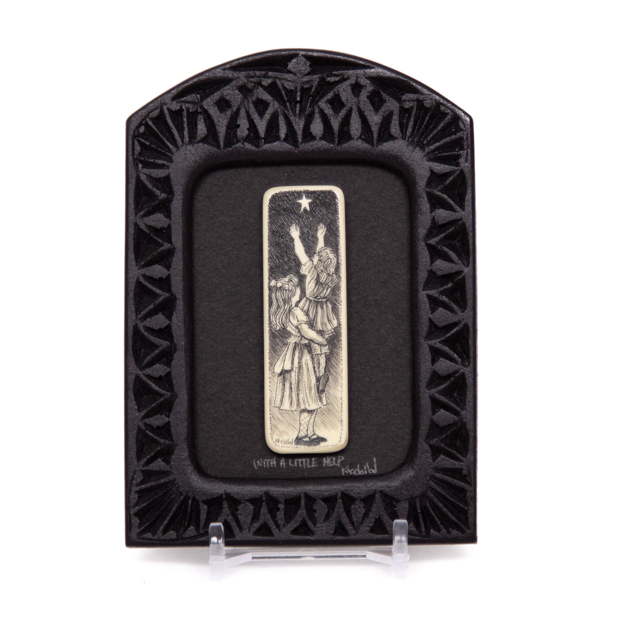 """With a Little Help"" Small Chip Carved Frame"
