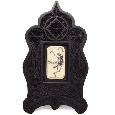 """Dry Bones Can Dance!"" Large Chip Carved Frame"