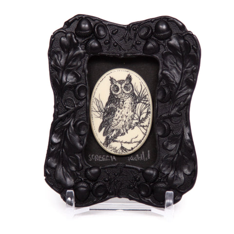 """Screech Owl"" Mini Chip Carved Frame"