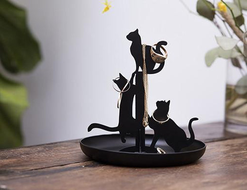 Cat Silhouette Jewelry Stand