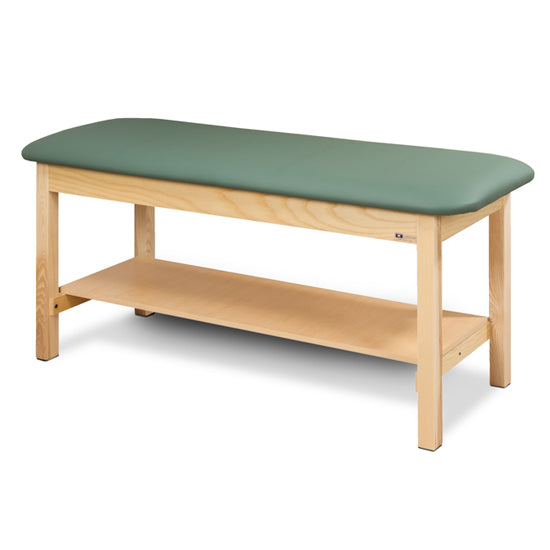 Clinton Top Classic Series Straight Line Treatment Table with Shelf