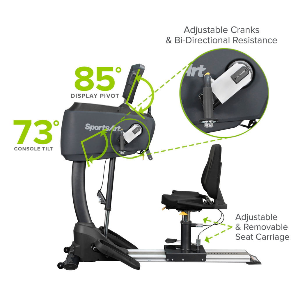 SportsArt UB521M Upper Body Ergometer with Swivel Seat
