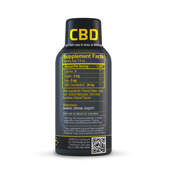 Clear Shot - Piña Colada - 2oz CBD Shot (30mg CBD)