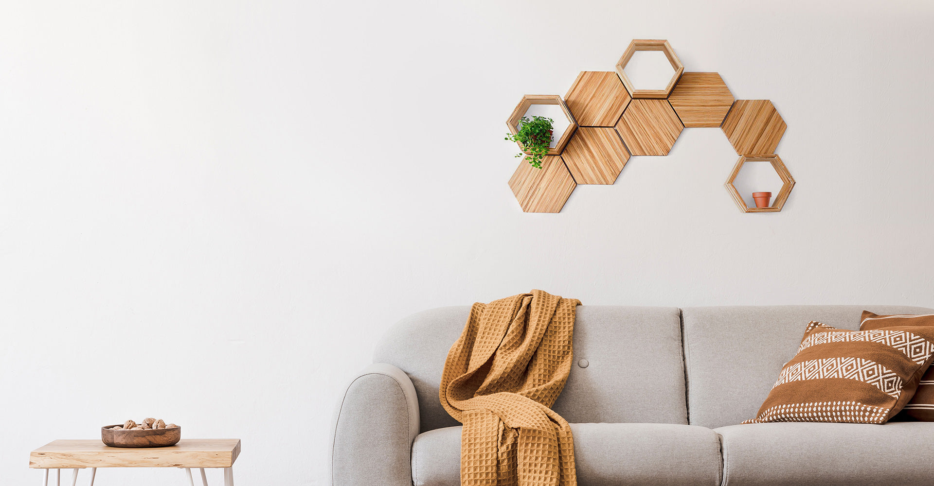 Eco-friendly wall decor sustainably made with recycled chopsticks