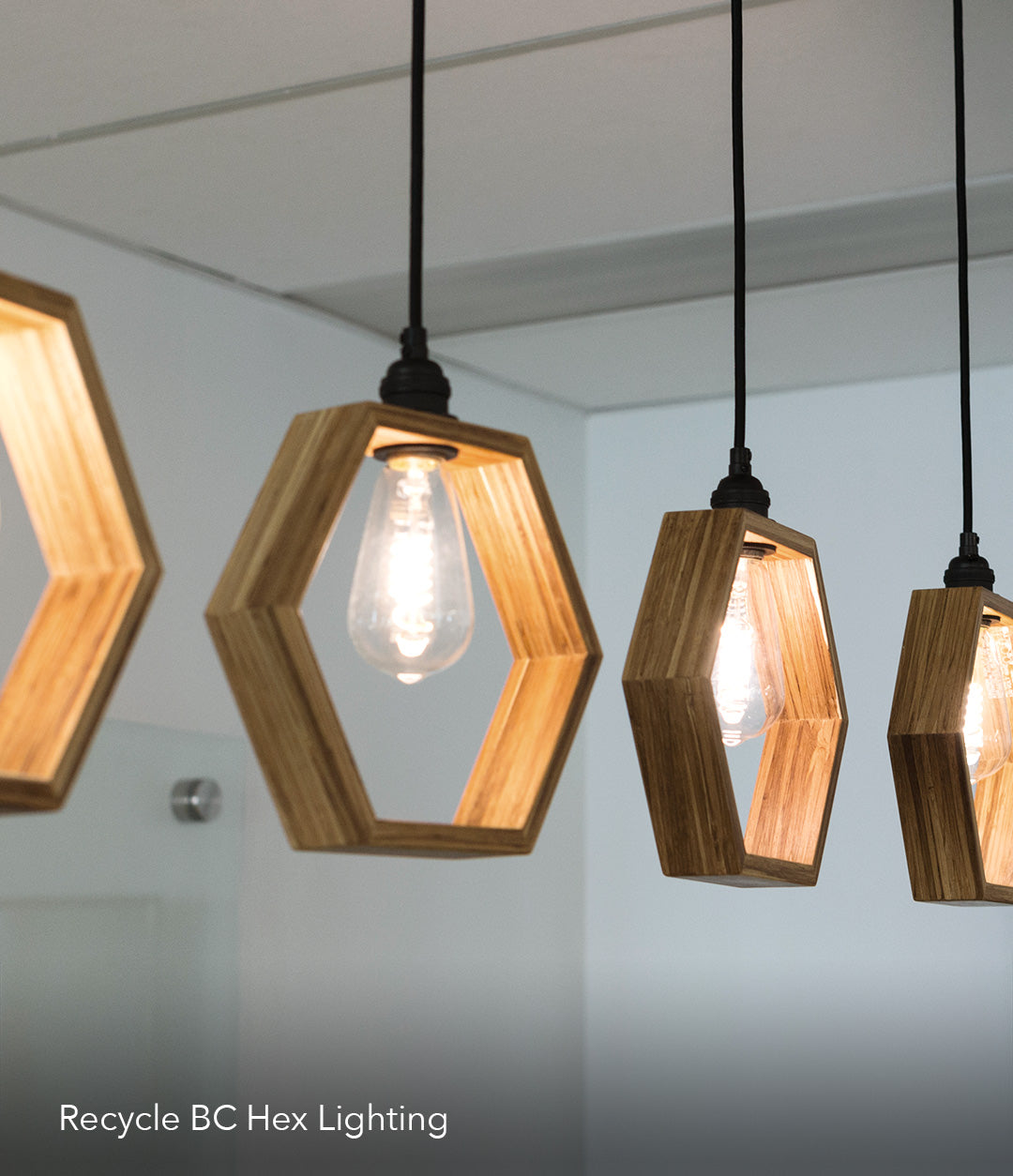 Sustainable Recycle BC hex lighting