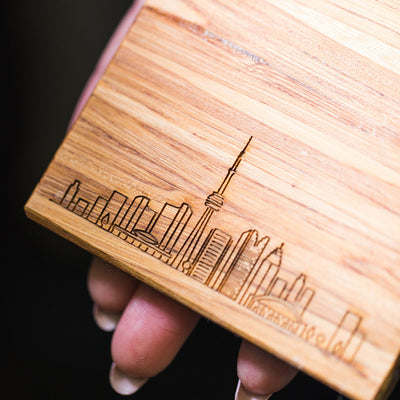 Eco-Friendly Toronto Skyline Coaster