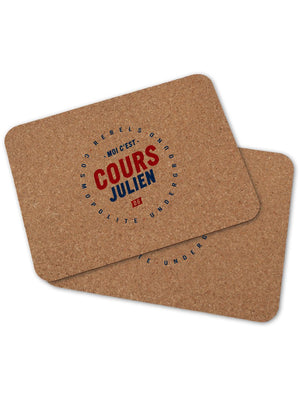 2 sets de table COURS JULIEN