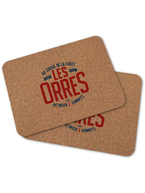 2 sets de table LES ORRES
