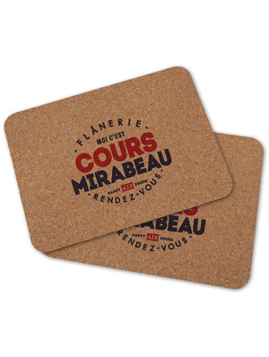 2 sets de table COURS MIRABEAU