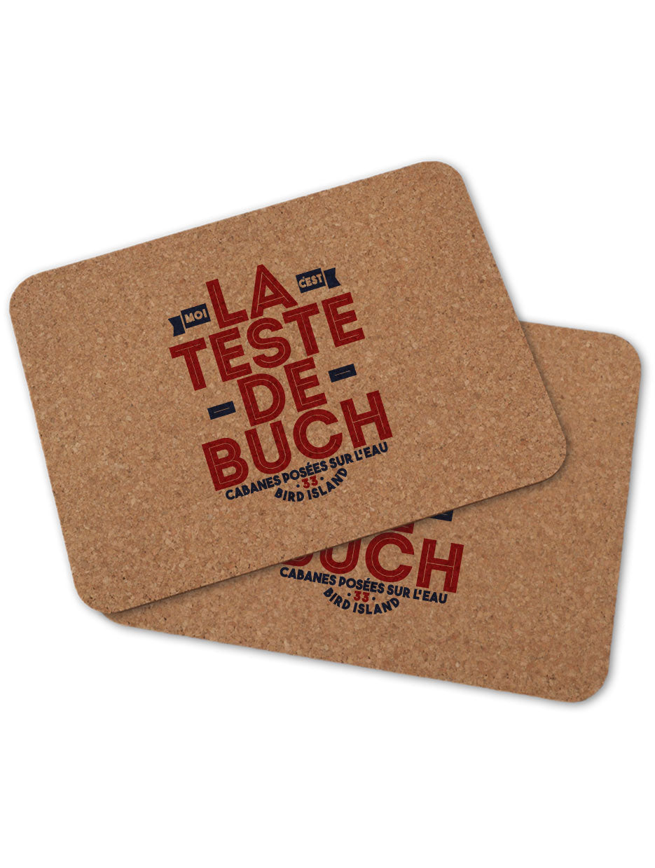 2 sets de table LA TESTE DE BUCH