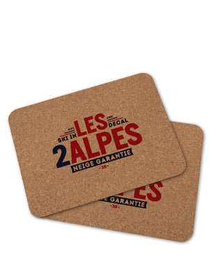 2 sets de table LES 2 ALPES