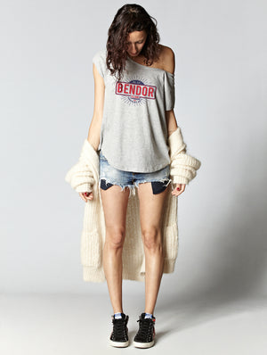 T-shirt oversize raw BENDOR