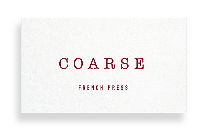 Coarse (French Press)