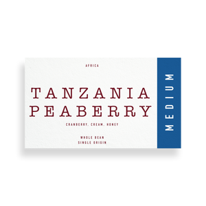 tanzania peaberry coffee